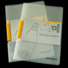 bespoke polypropylene clip file