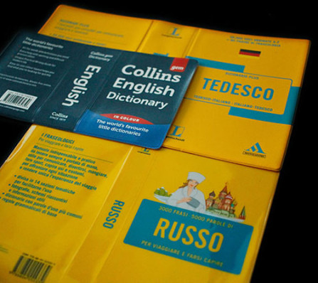 dictionary and book cover