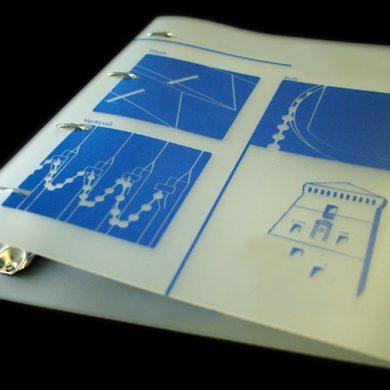 printed polypropylene ring binders