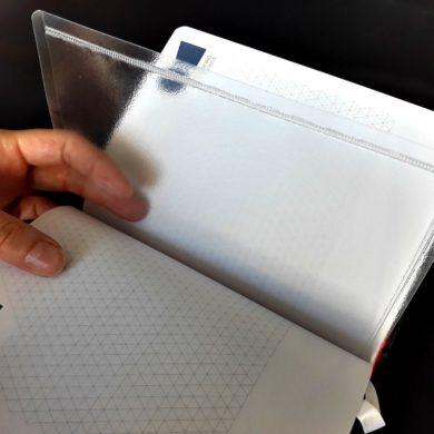 plastic transparent inner pages